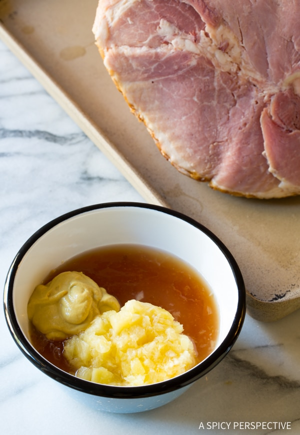 How to Make - Almond Crusted Baked Ham with Apricot Glaze Recipe #Easter #Holiday