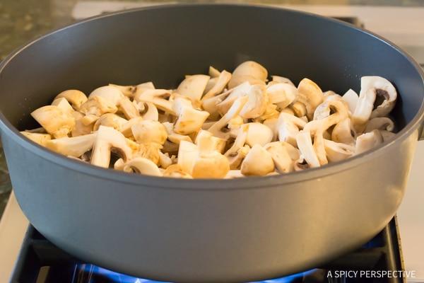 Making Asian Stir Fried Mushrooms Recipe