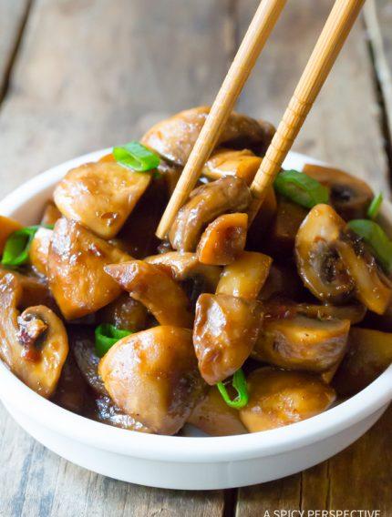Asian Stir Fried Mushrooms Recipe