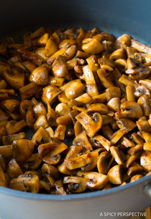 Easy Asian Stir Fried Mushrooms Recipe
