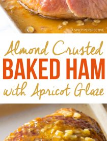 6-Ingredient Almond Crusted Baked Ham with Apricot Glaze Recipe #Easter #Holiday