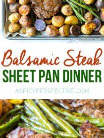 Easy Balsamic Steak Sheet Pan Dinner