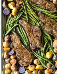 Fabulous Balsamic Steak Sheet Pan Dinner