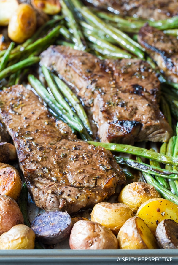 Best Balsamic Steak Sheet Pan Dinner
