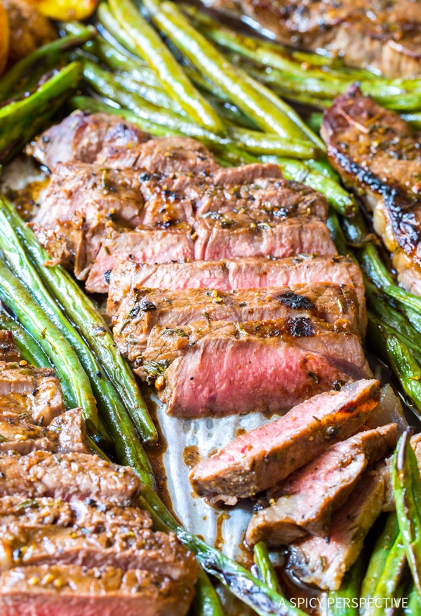 Dazzling Balsamic Steak Sheet Pan Dinner