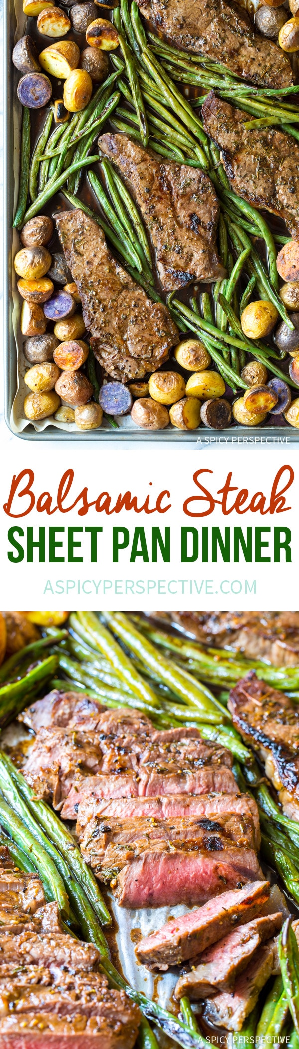 Easy Balsamic Steak Sheet Pan Dinner