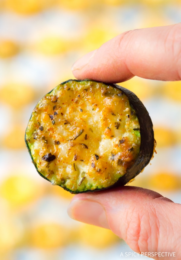 Easy Crispy Creole Roasted Zucchini Recipe #healthy #lowcarb