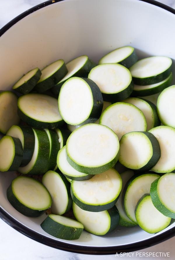 Heavenly Crispy Creole Roasted Zucchini Recipe #healthy #lowcarb