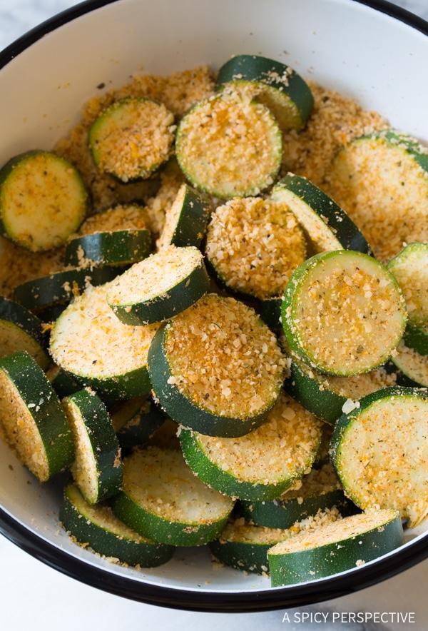LOVE! Crispy Creole Roasted Zucchini Recipe #healthy #lowcarb