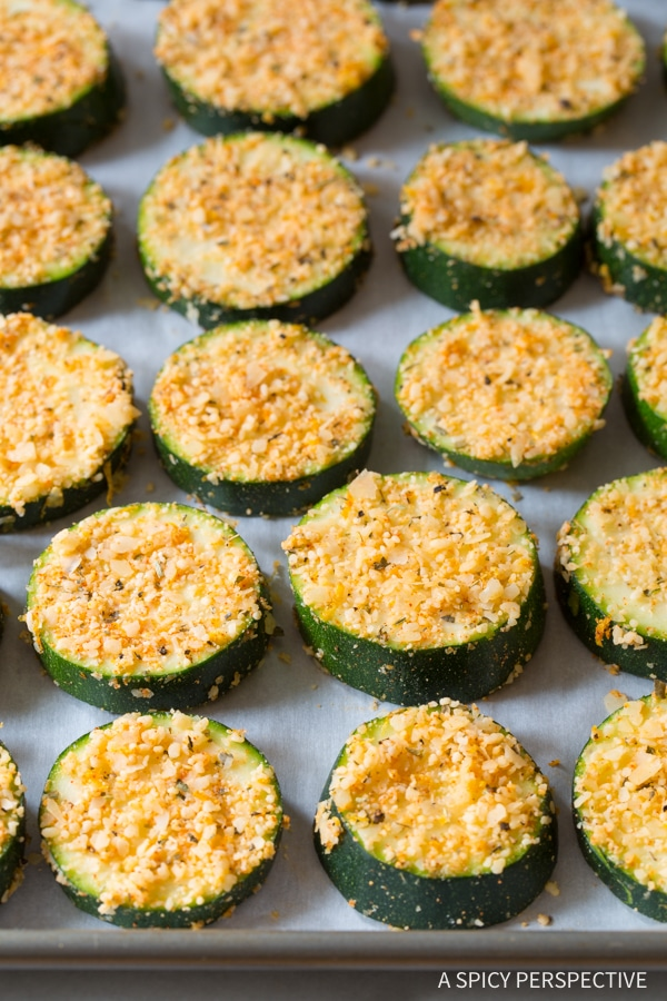 Crunchy Creole Roasted Zucchini Recipe #healthy #lowcarb