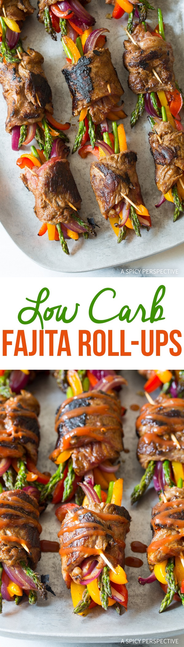 Zesty Low Carb Steak Fajita Roll-Ups #healthy