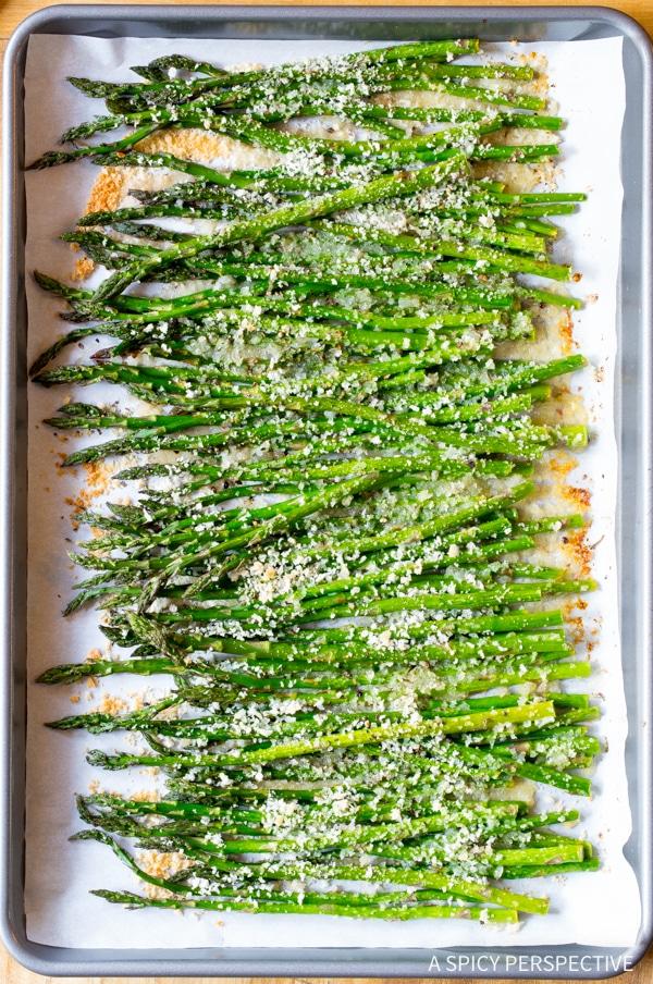 Crispy Lemon Butter Roasted Asparagus Recipe
