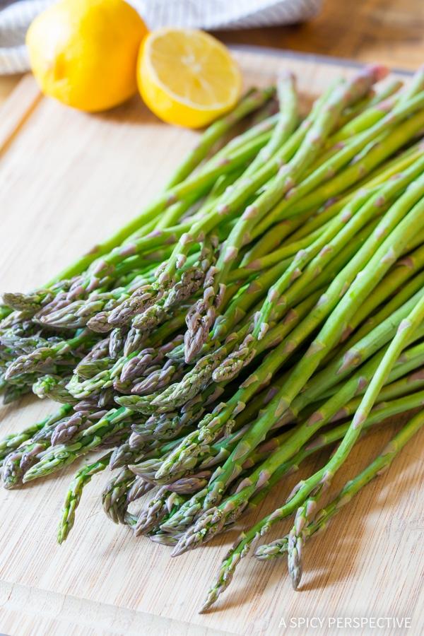 Easy Lemon Butter Roasted Asparagus Recipe