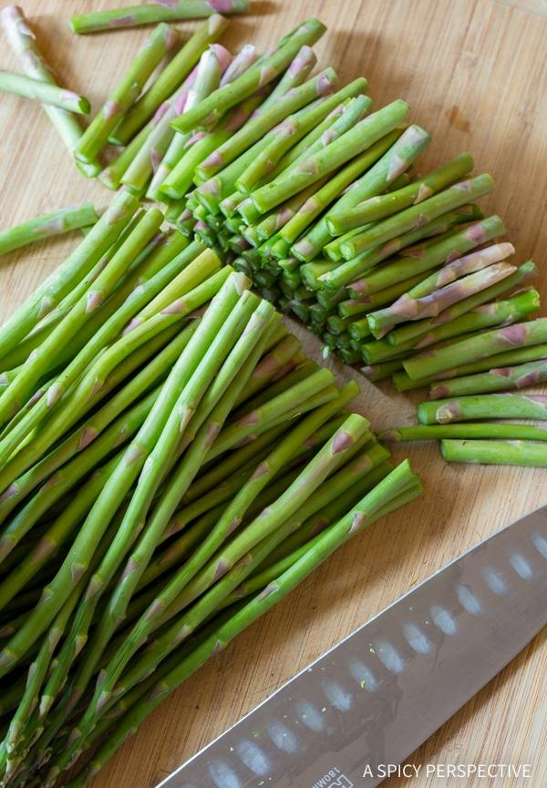 Making Lemon Butter Roasted Asparagus Recipe