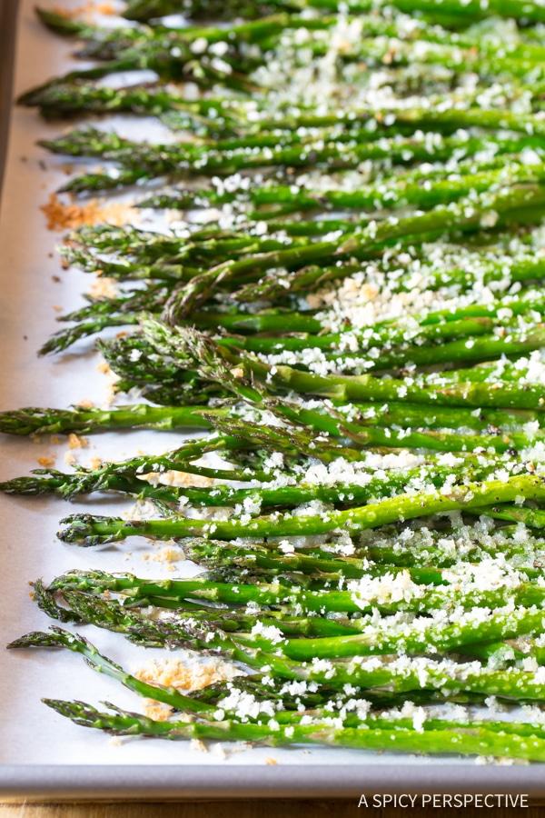 Zippy Lemon Butter Roasted Asparagus Recipe