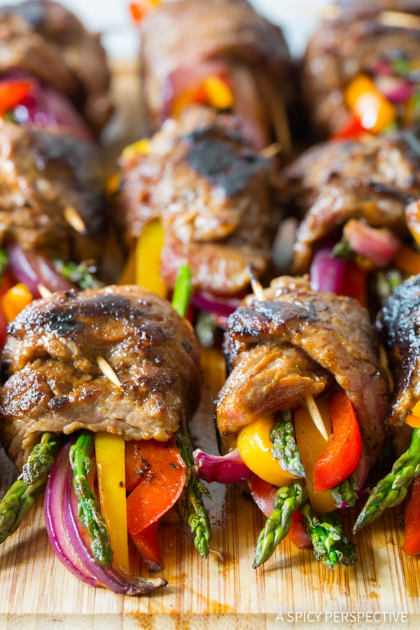 Heavenly Low Carb Steak Fajita Roll-Ups #healthy