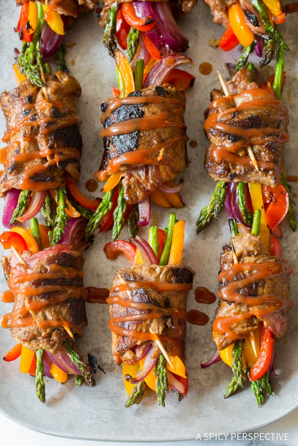 Awesome Low Carb Steak Fajita Roll-Ups #healthy