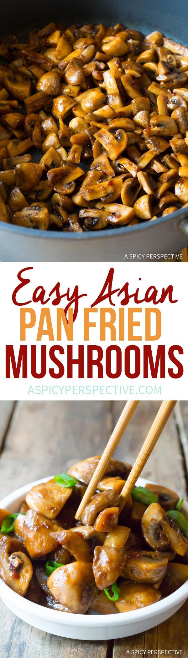 Perfect Asian Stir Fried Mushrooms Recipe