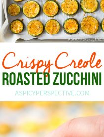 Healthy Crispy Creole Roasted Zucchini Recipe #healthy #lowcarb