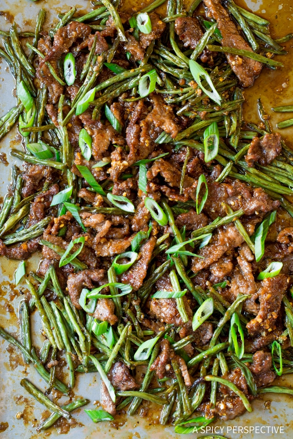 Zippy Sheet Pan Mongolian Beef Recipe