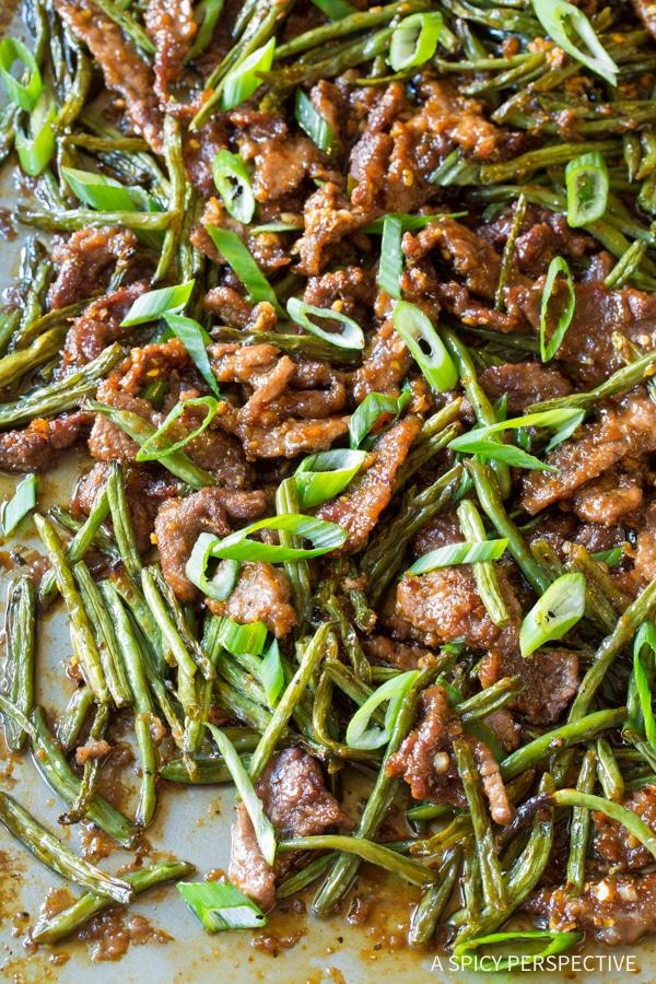 Sheet Pan Mongolian Beef Recipe