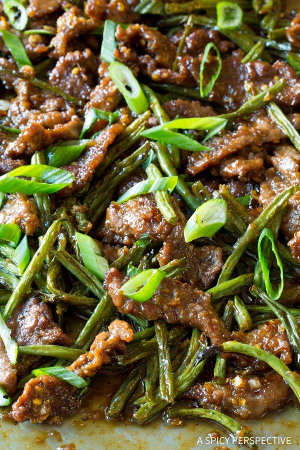 Zesty Sheet Pan Mongolian Beef Recipe