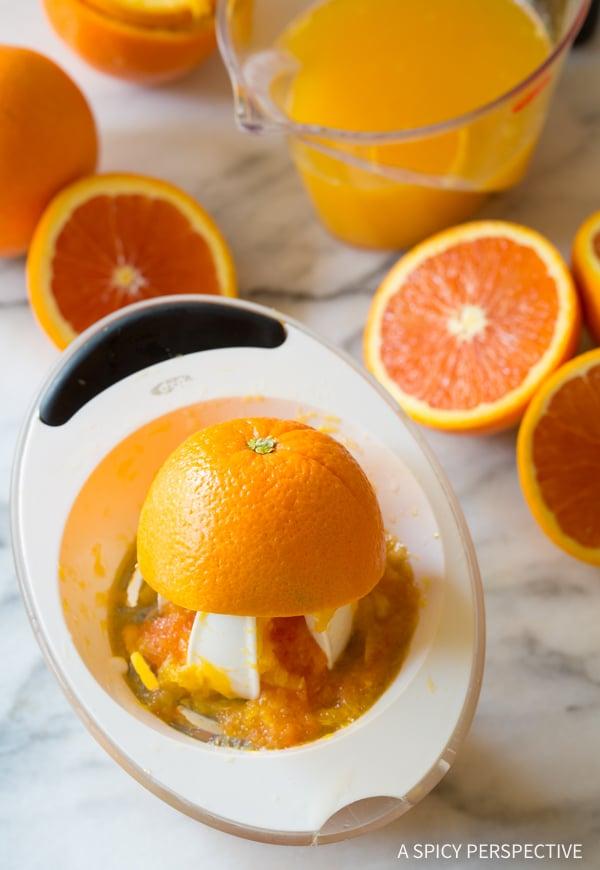 Making Southern Orangeade Recipe