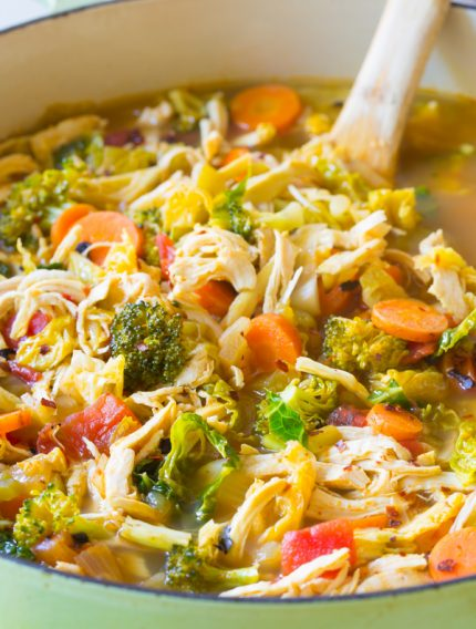 Southwest Chicken Detox Soup Recipe #cleanse #diet