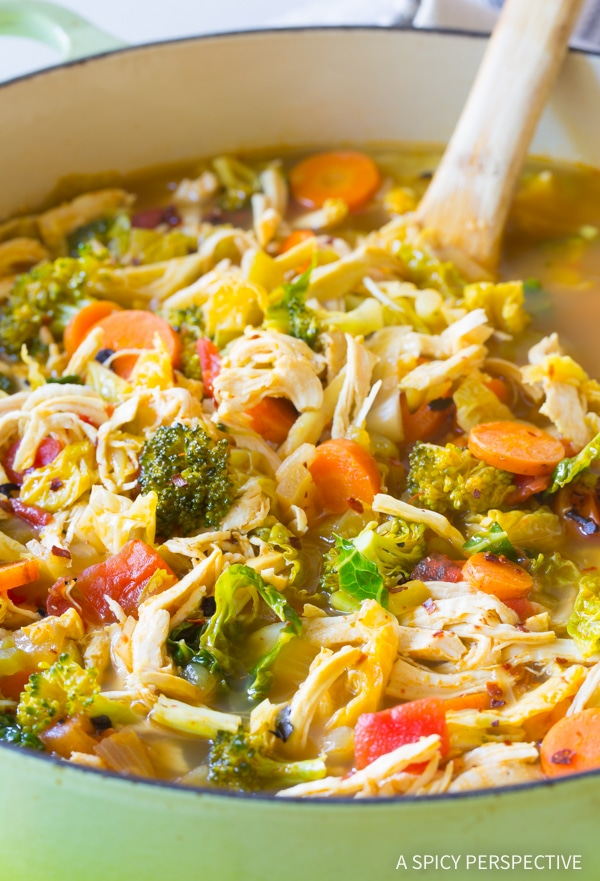 Detox Southwest Chicken Soup Recipe Video A Spicy Perspective