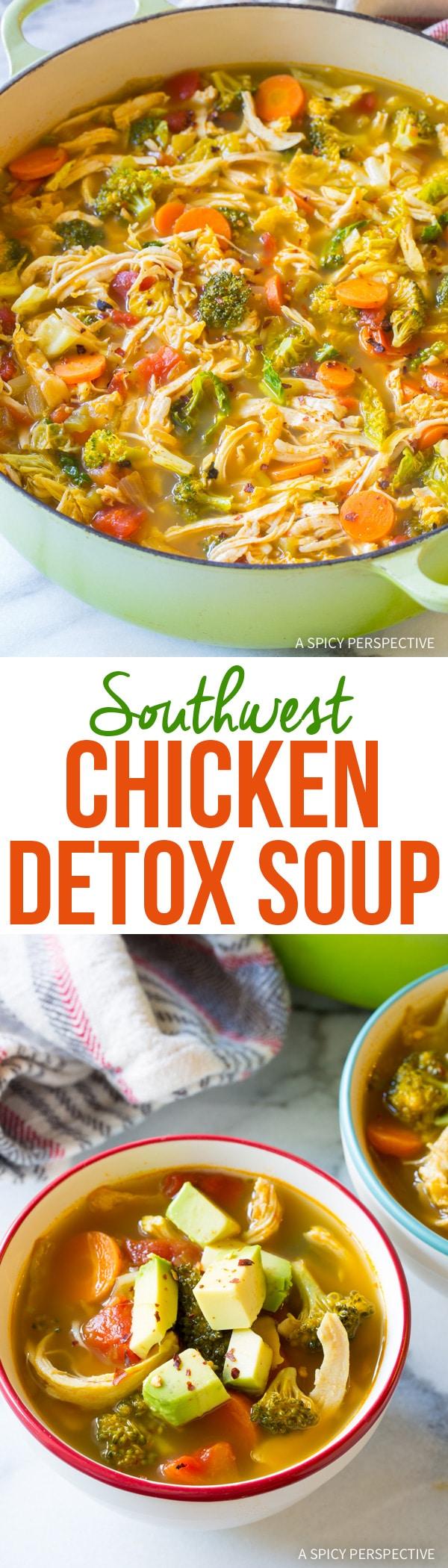 Best Southwest Chicken Detox Soup Recipe