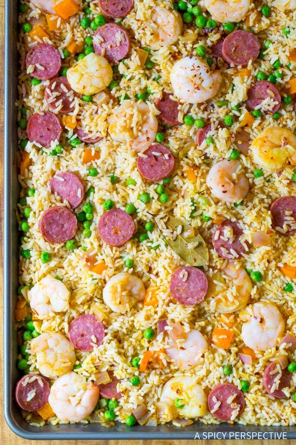 Must-Try Spanish Paella Sheet Pan Dinner