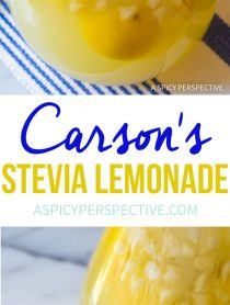 Must-Try! Carson's Stevia Lemonade Recipe #lowcarb #sugarfree