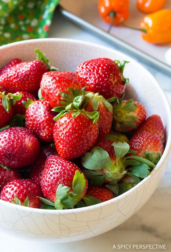 Making Strawberry Habanero Salsa Recipe