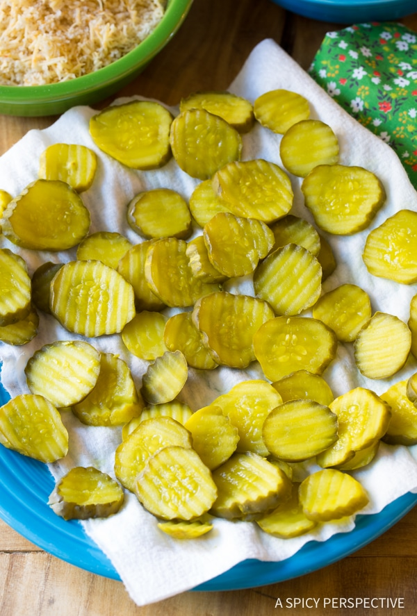 """Making Light Oven Baked """"Fried"""" Pickles with Garlic Sauce"""