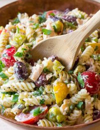 Tuna Pasta Salad with Olives and Capers Recipe