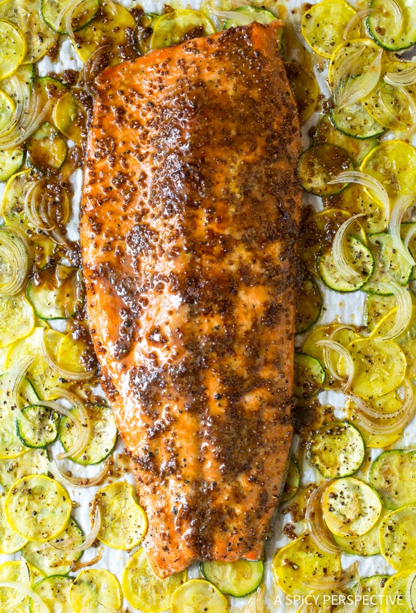 Perfect Sheet Pan Brown Sugar Baked Salmon with Vegetables