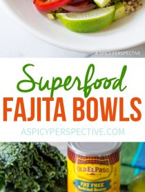 Irresistible Superfood Fajita Bowls Recipe #healthy #glutenfree #vegetarian
