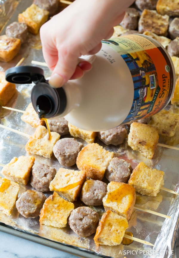 How To: French Toast Sausage Breakfast Kebabs Recipe