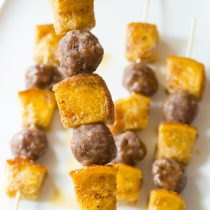 French Toast Sausage Breakfast Kebabs