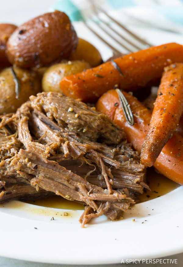Perfection! Mom's Best Beef Pot Roast Dinner Recipe (Slow Cooker Friendly!)