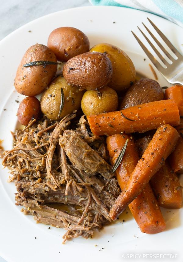My Mom's Best Beef Pot Roast Dinner Recipe (Slow Cooker Friendly!)