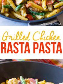 Cheesy Grilled Chicken Rasta Pasta Recipe