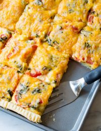Cheesy Southern Tomato Slab Pie Recipe