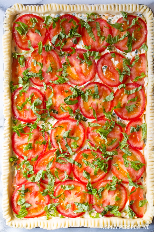 How To: Cheesy Southern Tomato Slab Pie Recipe