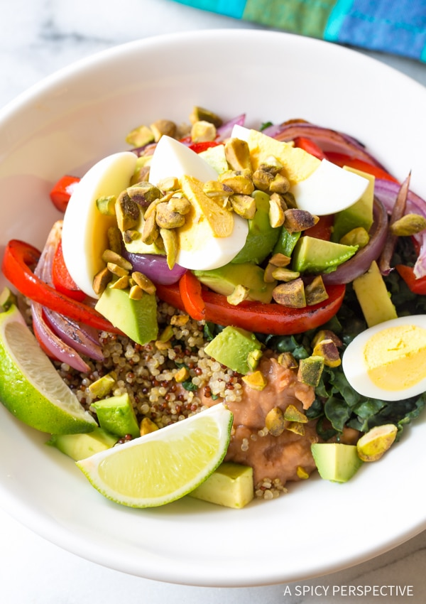 Yummy Superfood Fajita Bowls Recipe #healthy #glutenfree #vegetarian
