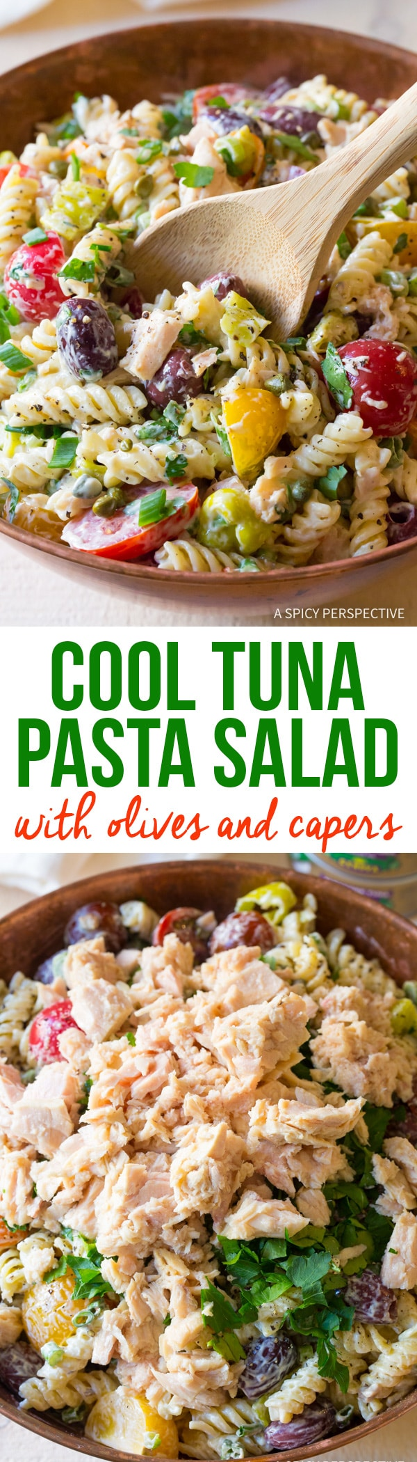 Cold Tuna Pasta Salad with Olives and Capers Recipe