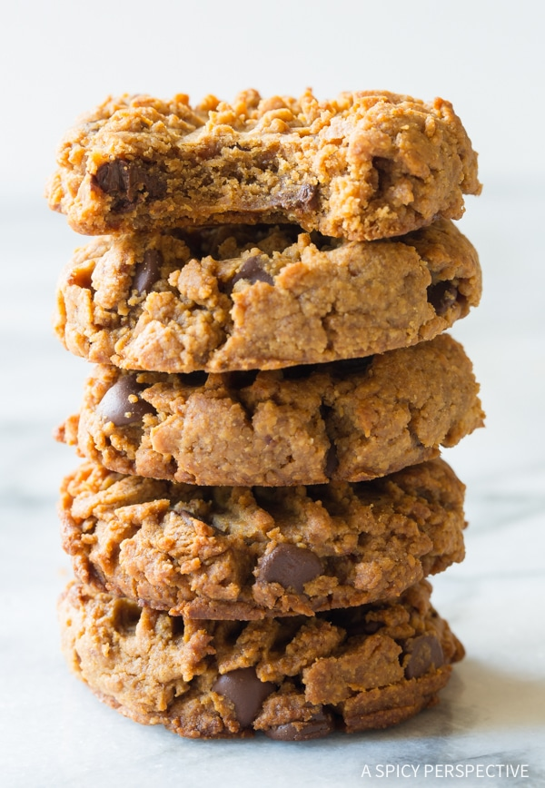 Magic 4 Ingredient Chocolate Chip Cookies {A Spicy Perspective}