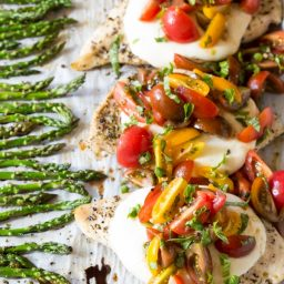 Bruschetta Chicken Sheet Pan Dinner Recipe