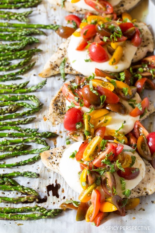 Bruschetta Chicken Sheet Pan Dinner A Spicy Perspective