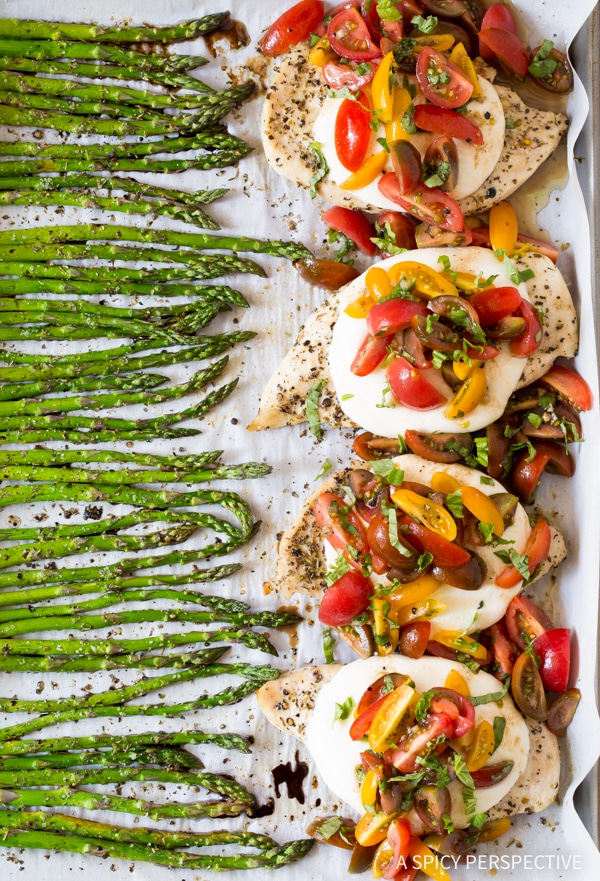 Best Cheesy Bruschetta Chicken Sheet Pan Dinner Recipe